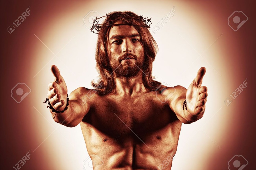 21171878-Jesus-Christ-reaches-out-to-humanity--Stock-Photo-god